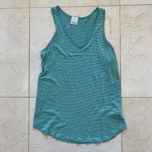 Ella Moss NWOT Striped Tank Size Medium Teal White